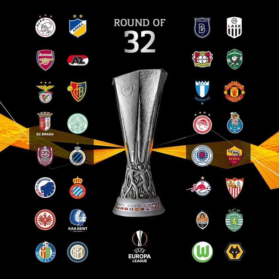 32 ทีม ยูฟ่ายูโรปาลีก